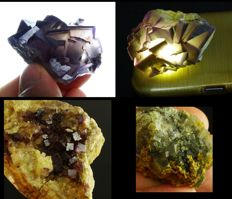 Fluorite lot - Great Phantoms  -  5,0 cm to 7,3cm - 310gm (3)