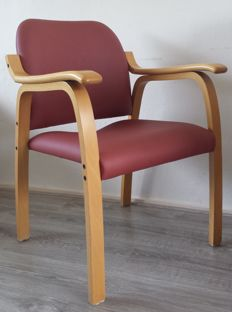 KEMBO - chair made of wood and artificial leather