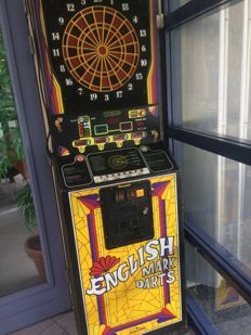 Rockford English mark darts collector's item, early 80's arcade game