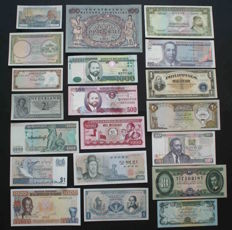 World - Nice collection of 46 different high value banknotes