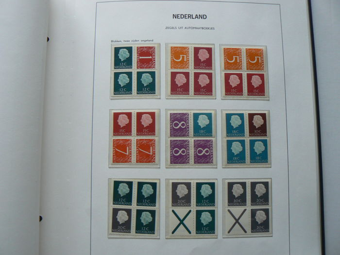 The Netherlands 1964/1990 - Collection of combinations and a small stock of stamp booklets in 2 albums