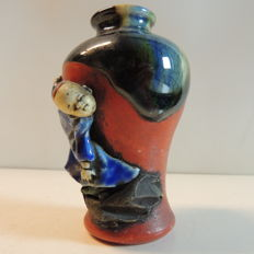 Miniature Sumida pottery vase - Japan - ca. 1940-1950