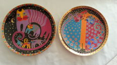 Laurel Burch cat plates (signs), limited edition, numbered