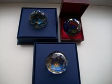 Swarovski - Paperweight Davos, Graz and Bad Ems - Special Edition.