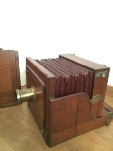 Very large wooden Meagher Camera suitable for wet dry Plate ca 1880