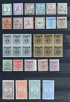 French colonies – Morocco 1891-1956 (series, airmail, taxes, corner-dated, etc.)