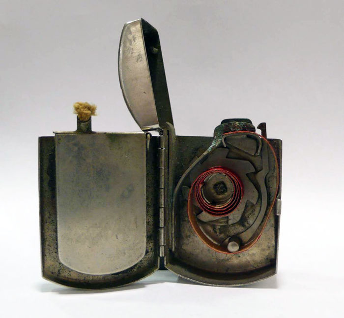 Percussion Lighter In Chromed Metal