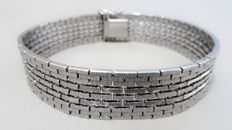 Wide 925 silver bracelet - marked FBM Friederich Binder Mönsheim - 1960