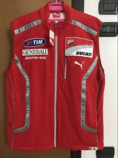 Ducati Corse original bodywarmer, from the year with TIM and Generali sponsors.