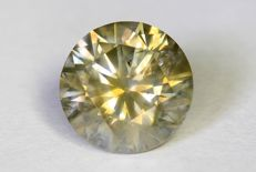 Diamant  0.59 ct - SI2- Fancy Grayish Yellow