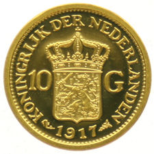 "The Netherlands - Medal ""Restrike of the 10 Guilder 1917"" - Gold"