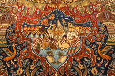 Wonderful Persian carpet Pictures Kashmar Garden of Eden carpet 3.80 x 2.96 Paradise Orient carpet ZARATHUSTRA Gold