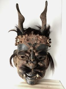 Wooden mask of shaman – Nepal, 2nd half of the 20th Century