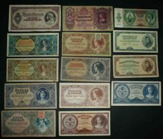 Hungary - Nice collection of 36 different banknotes