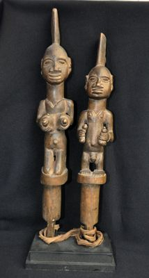 Old double staff/scepter - YORUBA - Nigeria