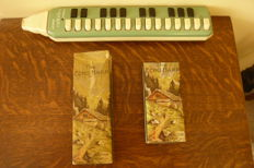 Set of vintage Melodica and Harmonicas
