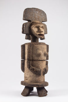 Anthropomorphic janiform reliquary box - AMBETE - Gabon