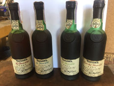 Taylor's aged Tawny Port - 10 & 20 & 30 & 40 years old - bottled in 1992 - 4 bottles (0.375l)