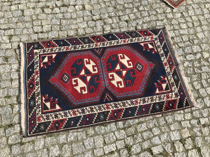 Unique Turkish Kazak Rug   125x75cm -hand knotted
