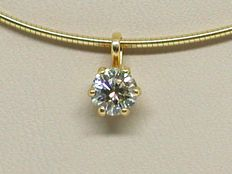 Necklace & Diamond Pendant total 0.79 ct.
