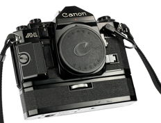 Canon A-1 + Databack A + Power Winder A