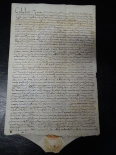 Manuscript; Document issued by the Sacred Congregation of the fabric of Saint Peter's and concerning a factory located in the Diocese of Orvieto - 1640