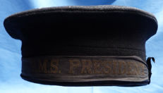 Original WW1 British Royal Navy Seaman's Hat - HMS President - Anti-Submarine Q-Ship