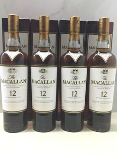 4 bottles - Macallan 12 Year Old Sherry Oak