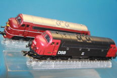Märklin H0 - 37670 - Set with 2 NOHAB diesel locomotives of the Danish railways