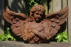 """Angelic"" Angel sculpture, made of cast iron - 20th century"