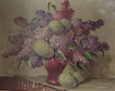 Unknown artist (20th century) - Still life with lilacs