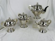 4 piece silver coffee-tea set, Portugal, Porto, 1938-1984