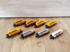 Märklin H0 - 4501/4502 - Aral, Esso and Shell:  8 x boiler wagons of the DB