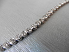 18k Gold Diamond Tennis Bracelet - 5.60ct