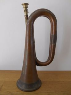 Copper bugle/trumpet from WWI