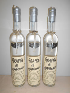Cesarini s.a - Grappa di Amarone - Very limited production  - 3 Bottles of 50cl