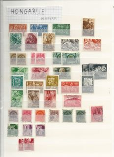 Yugoslavia and Hungary 1930s/1980s - Batch of stamps on stock pages