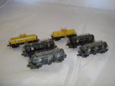 Kato/Tomix N - 6x bogie tank wagons of the JNR, partly weathered