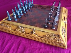 Vintage Chess of Spain in bronze