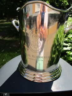 Champagne cooler, silver plated, Louis Roederer.