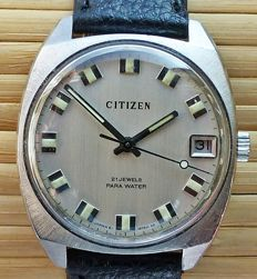 CITIZEN 1230 PARA WATER 21Jewels with date -- men's wristwatch from the 70s