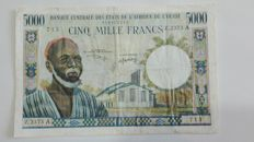 West African States - Ivory Coast - 1000 and 5000 Francs ND (1959-65) - Pick 103Ak and 104Ai