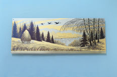 Zlatoust - gold plated engraving on steel