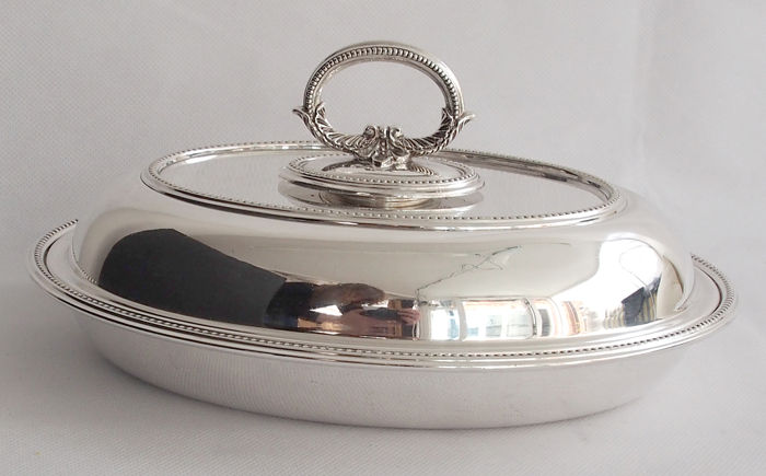 Antique Silver Plated Serving Dish - Mappin & Webb c. 1890