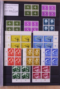 The Netherlands 1962/2000 - collection of blocks of 4 in three King stock books.