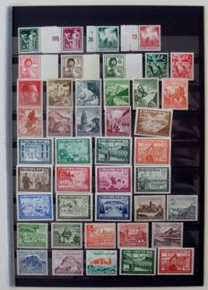 German Reich 1936/1941 - Collection of 10 complete series