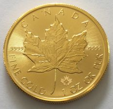"Canada - 50 dollars 2015 ""Maple Leaf"" - 1 oz gold"