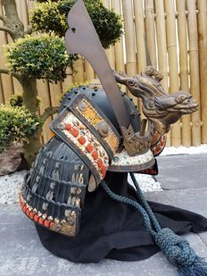 Japans Samurai Kabuto (Helm) Begin Showa periode