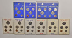 Belgium - year collections 1971/1975, French and Flemish (10 pieces).