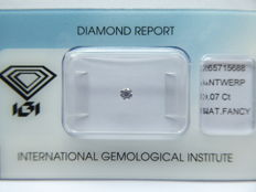 Natural Fancy Purplish Pink Brilliant cut diamond 0.07 ct with I.G.I certificate ***No minimum price***